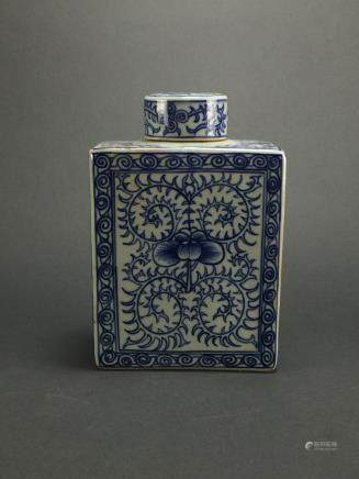 Ming Dynasty: Blue and White Tea Flask