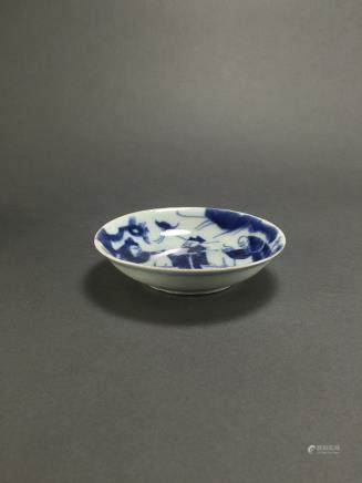 Ming Dynasty: Blue and White Scholars Dish