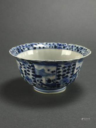 Kangxi: Blue and White Bowl Decorated with Flowers