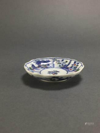 Kangxi: Small Doucai Gold Lining Dish