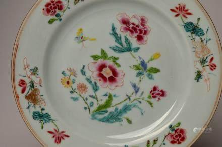 Yongzheng: Famille-rose Peony Dish