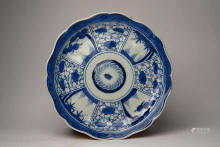 Kangxi: A Blue and White Window Dish