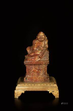 SHOUSHAN STONE CARVED BUDDHA STATUE