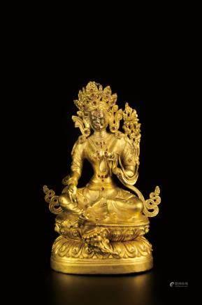 TIBETAN GILT BRONZE BUDDHA STATUE