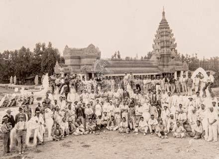 Reproduction du temple d'Angkor Vat pour l'exposition coloniale de Marseille en
