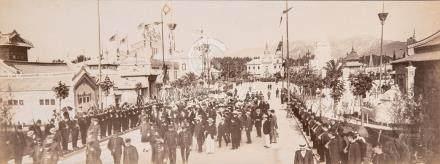 Exposition coloniale de Marseille, 1906 Ensemble de huit grands panoramas, tira