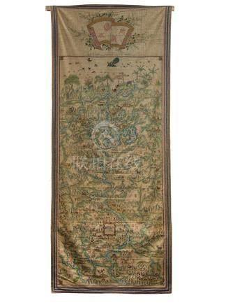 Carte annamite de la province de Thái Nguyên (au Nord de l'actuel Vietnam), il