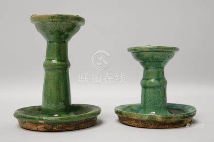 A group of ceramic oil lamp .                                油灯 (1 组). 十六世纪.