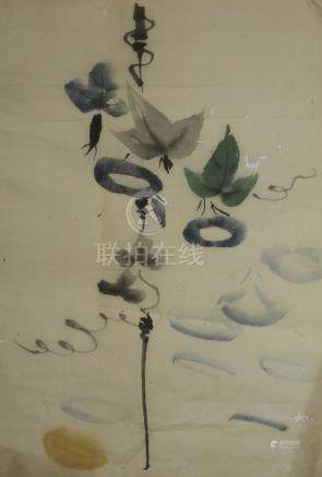 A Japanese painting. 日本画 .