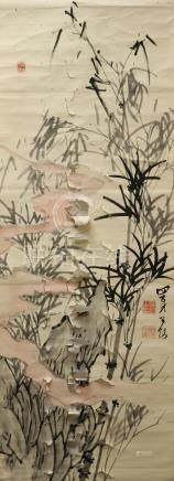 A Japanese hanging scroll of painting 日本画卷