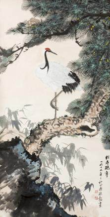 ANONYMOUS, A CHINESE PAINTING OF CRANE