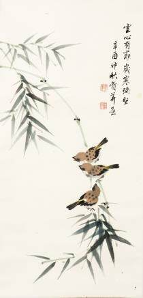 ANONYMOUS, A CHINESE PAINTING OF BIRD AND FLOWER