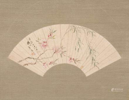CHINESE FAN PAINTING BY LU MING, PROVENANCE FROM SOTHEBY'S