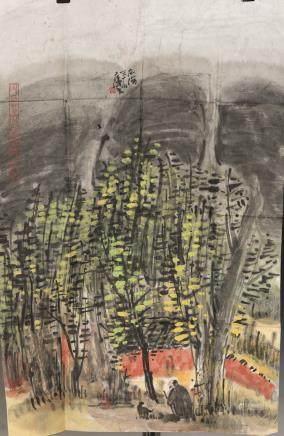 AN ABSTRACT STYLE CHINESE LANDSCAPE CHINESE PAINTING