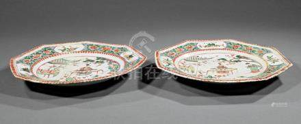 Chinese Export Famille Verte Porcelain Dishes