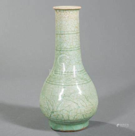 Chinese Celadon Stoneware Bottle Vase
