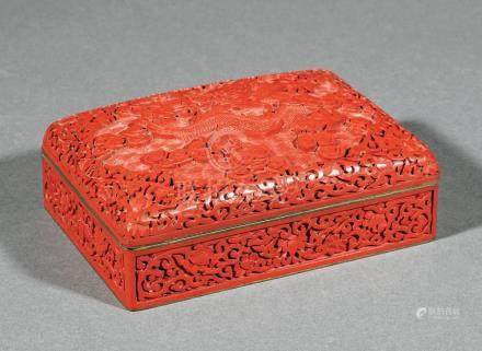 Chinese Red Lacquer Rectangular Box