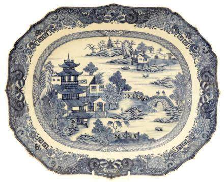 An 18th Century Chinese porcelain meat plate.