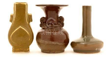 Three small Chinese vases.