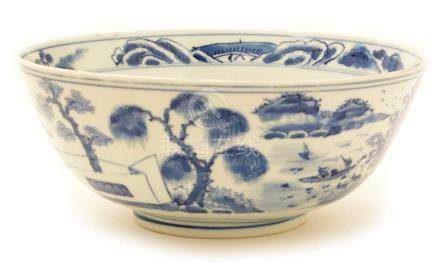 A 19th Century Chinese blue and white bowl.