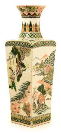 A 19th Century Chinese Famille Vert vase.