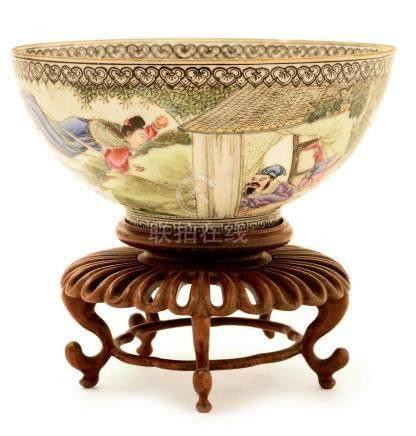 A Chinese eggshell porcelain bowl.