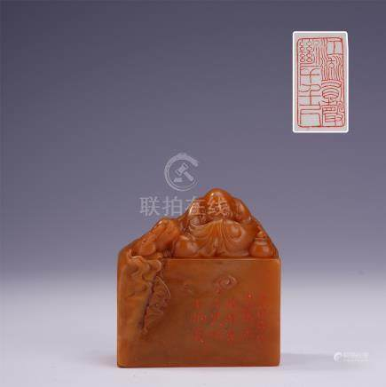 CHINESE TIANHUANG STONE LOHAN SEAL