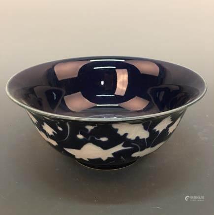 Chinese Blue Glazed 'Fish' Bowl, Xuande Mark
