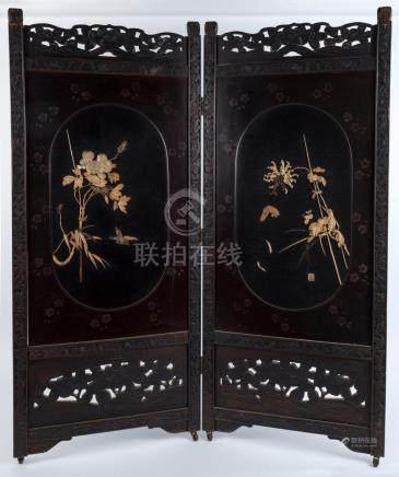 A Japanese folding room divider screen, 20th century, 125cm