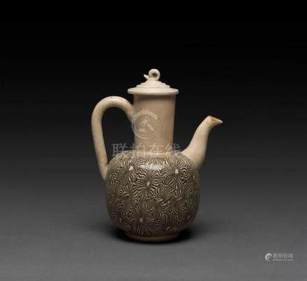 A Chinese earthenware teapot, Song Dynasty, 14cm high