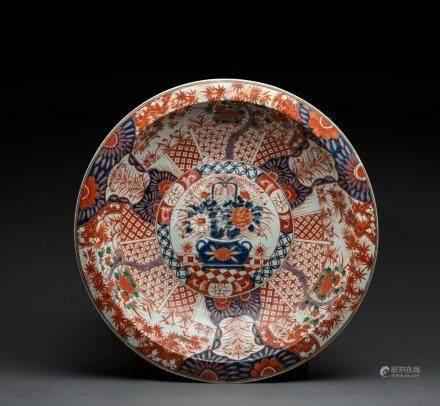 An impressive Imari bowl, Japanese, Meiji period, 63cm diame