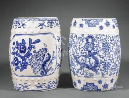 Chinese Blue and White Porcelain Garden Seats