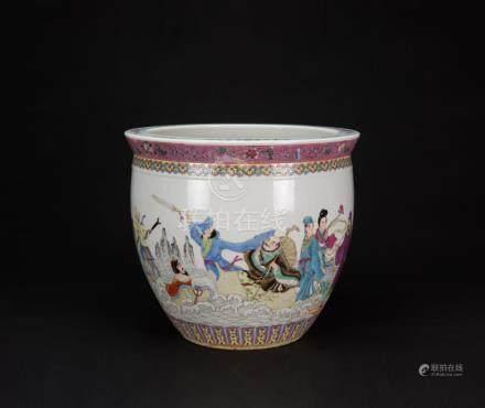 Republic-A Famille-Glazed Large Jar