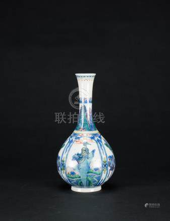 Qing-A Famille-Glazed Vase