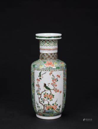Qing-A Wucai 'Magpie And Plum Tree' Vase