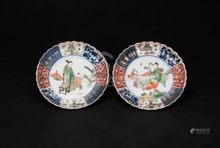 Qing-A Pair Of Wucai Plate