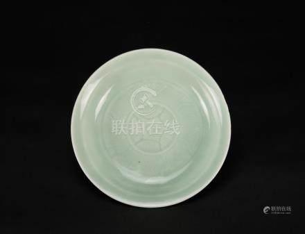 Qing-A Celadon Glazed Plate