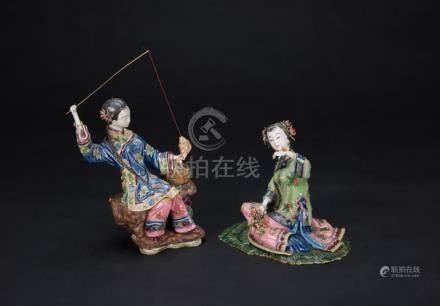 Lin Naihe(B.1957) Shi Wan Statues (2 Ps)