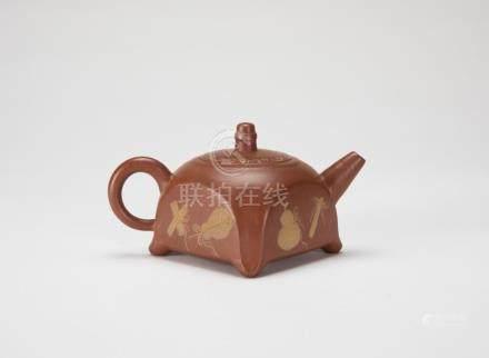 Wu Yungen(1892-1969) Zisha Tea PotWith Two Mark