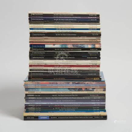 蘇富比亞洲藝術拍賣圖錄一組五十六本 1981-1985,1996年刊 A Group of Fifty-Six Sotheby's Asian Art Catalogues, 1981-1985, 1996