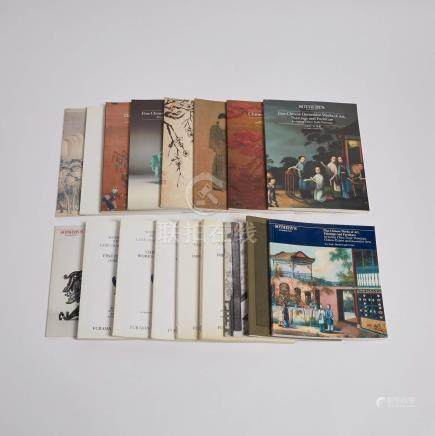 1983-1985年蘇富比中國藝術品拍賣圖錄一組十七本 A Group of Seventeen Sotheby's Chinese Art Catalogues, 1983-1985