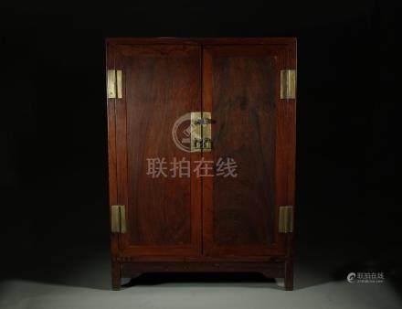 Rare 19th C. Huanghuali book cabinet