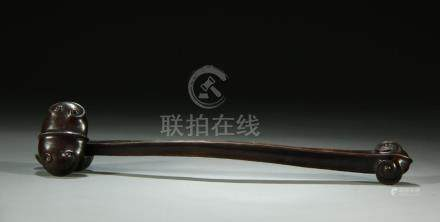 19/20th C. bronze ruyi scepter