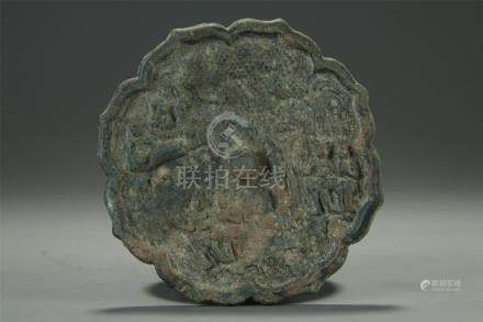 Rare bronze mirror Tang dynasty or earlier