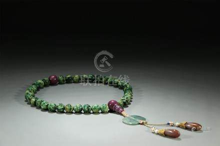 Superb jadeite beads rosary