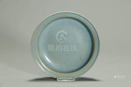 Antique Jun glazed plate; Song?