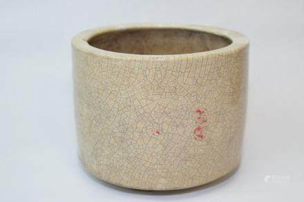 Late Ming/Early Qing Chinese Faux Ge Glaze Censer