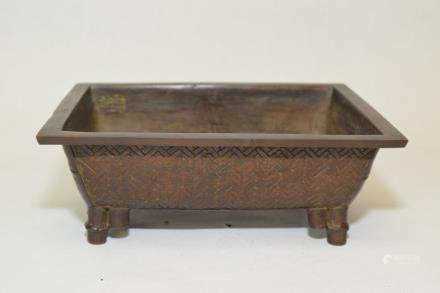 19th C. Japanese Metal Carved Censer, Makred