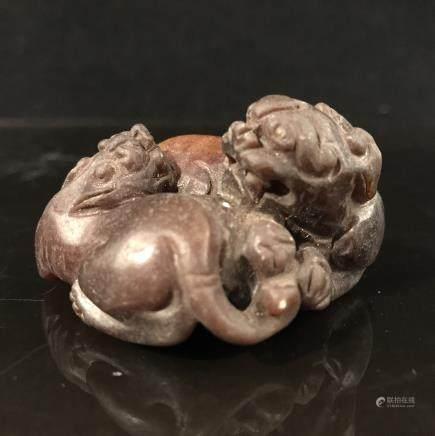 Chinese Jade Ruishou Figure