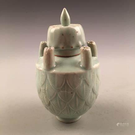 Chinese Porcelain Longquan Kiln Bottle